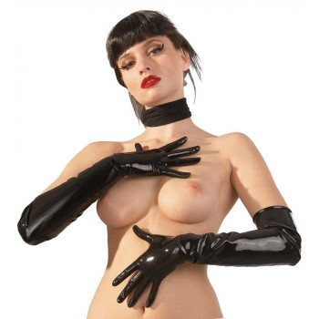 Guanti Lunghi Latex Nero