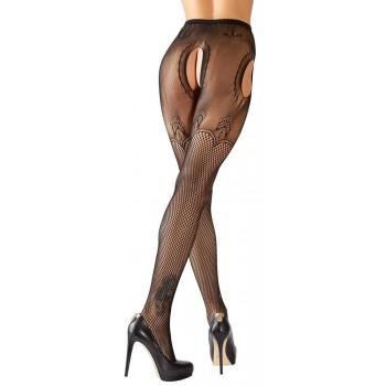 Collant Aperto Plus Size Hosiery Sheer Lace Black